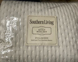 Southern Living Symphony Quilt Mini Set Full/queen Quilt And 2 Standerd Shams New