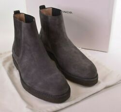 Vince Nwb Chelsea Boots Size 11 D In Grey/graphite Suede Carmine 395