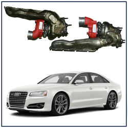 2012-2017 Audi S8 4.0t Stage 2 Upgraded Billet Wheel Turbochargers W/ Manifolds