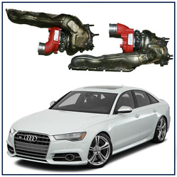 2012-2018 Audi S6 4.0t Stage 2 Upgraded Billet Wheel Turbochargers W/ Manifolds