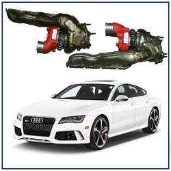 2014-2017 Audi Rs7 4.0t Stage 2 Upgraded Billet Wheel Turbochargers W/ Manifolds