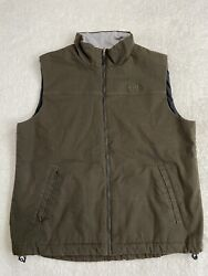Cotton Canvas Insulated Vest Size Mens Large Brown