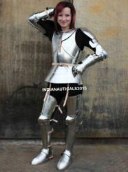 Wearable Antique Silver Finish Full Body Armour Suit Halloween Costume Gift Item