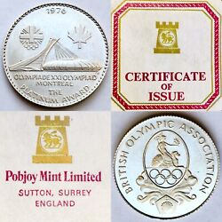 Rare Platinum Coin To Commemorate The 1976 Montreal Olympics + Box And Certificate