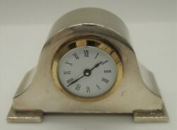A Sweet Miniature Solid Silver Mantle Clock - Not Working By Skinner And Co