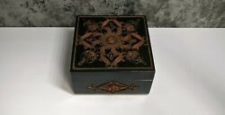 Vintage Casket Box Tree Copper Filigree Cultures And Ethnicities Ussr Soviet A