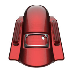 Hard Candy Hot Rod Red Dominator No Cutout Rear Fender For 14+ Harley Touring
