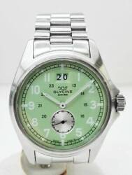 Glycine Combat Ref.3860 Ss Used Watch Small Second Green Dial Menand039s Quartz