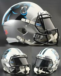 Carolina Panthers Nfl Riddell Speed Full Size Authentic Football Helmet