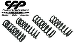 1958-1964 Chevy Car Front And Rear Drop Lowered Coil Springs Impala