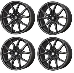 Drag Dr-67 Wheels 20x8.5 5x120 5x4.72 Matte Black Rims For Tesla Model S 75d 90d