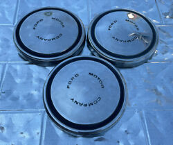 Set Of 3 Ford Motor Company 1970'scenter Hub Cap-d0aa-1130-g Old Stock Vintage