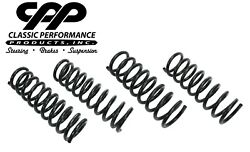 1964-66 Chevelle Gto 442 Gm A-body Front And Rear Lowered Dropped Coil Springs