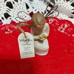 Demdaco Willow Tree Angel Of Miracles Small Sz.3 New W Card