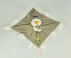 Gund Baby My First Christmas Snowman Lovey Plush Security Blanket Gray Loose