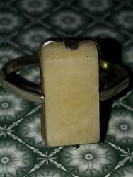 1960 Vintage Ussr Women's Jewelry Ring Silver 875 Amber Milk Seal