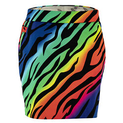 Womens Wild Ones Golf Skort By Royal And Awesome Size 2 - 14 Animal Print Skirt