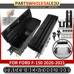 2x Left And Right Lockable Storage Box Truck Bed Tool Box For Ford F-150 2020 2021