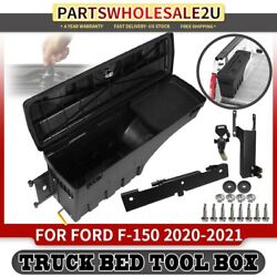 1x Rear Left Lh Lockable Storage Box Truck Bed Tool Box For Ford F-150 2020 2021