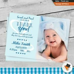 Premium Photo Baby Boy Or Girl Personalised Birth Announcement Thank You Cards