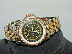 Paul Jardin Water Resistant Chronograph Black Face Watch Works Great