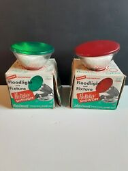 Vintage Penetray Green And Red Indoor/outdoor Floodlight Lamp Christmas Tree