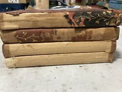 4 Volumes Antique 1898 John L Stoddardand039s Lectures Partial Leather Set