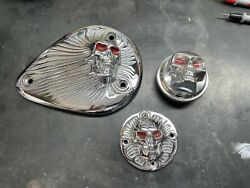 Zambini Brothers Vintage Chopper Parts Chrome Sands Cover, Points Cover, Gas Cap