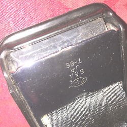Mustang 1965 - 66 Black Standard Seat Belt - New Old Stock - Mint 1966 Dated
