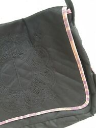 Quilted Crossbody Messenger School Shoulder Canvas Adjustable Butterfly by MUDD $20.00