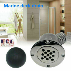 Stainless Steel 316 Boat Deck Drain Scupper W/40mm For 1-1/2 Inch Hose Marine