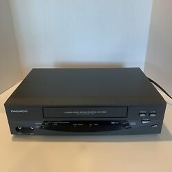 Daewoo Vcr Vhs Player Dv-t5dn 4 Head High Speed Rewind System Tested Working