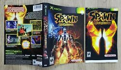 Cover Sleeve And Manual Only No Game - Spawn Armageddon - Miscut Error - Xbox