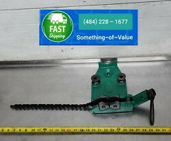 Greenlee 467 Pipe Chain Threading Bender Vise Will Fit 1802 Pipe Bender Table