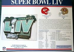 Super Bowl 54 Liv Kc Chiefs Vs.sf 49ers Official Nfl Willabee And Ward Patch Nip