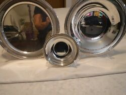 Vintage Trade Mark 1883 Fb Rogers Serving Tray Matching Serving Bowls 1914