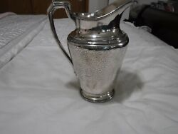 1928 Reed And Barton Hammered Silver Plate Water Pitcher 5585