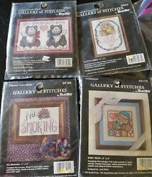 Gallery Of Stitches By Bucilla Lot Of 4 Pre-cut Plastic Canvas Kit Crafts