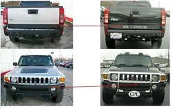 Hummer H3t H3 T Rear Chrome Front Grill Letters Inserts Reflective Set 09 2010