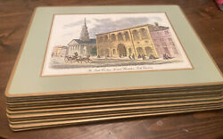 Set Of 12 Pimpernel Cork Backed Placemats 19th Century London And Charleston, Sc