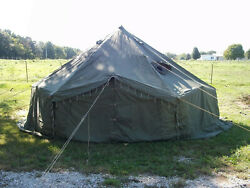 New In Crate G.i. Military 10 Man Arctic Tent With New Hunter Heater Local P/u