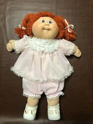 Vintage 1978 - 1982 Red Hair Blue Eyed Dimpled Cabbage Patch Girl Doll