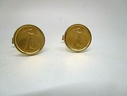 1993 5 American Eagle 5 Gold Coin Cuff Links