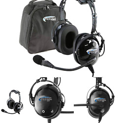 Rugged Air Ra200 General Aviation Pilot Headset Features Noise Reduction Ga ...
