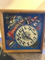 Casablanca Fan Company Advertising Clock - Glass And Wood - Works