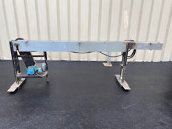 3.25 Wide X 9and0396and039 Long Table Top Conveyor Stainless Belt Runs Good Video