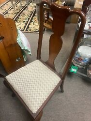 Antique Beacon Old Colony Queen Anne Chairs