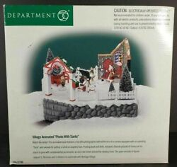 Department 56 Village Animated Photo With Santa 56.52790 Animated