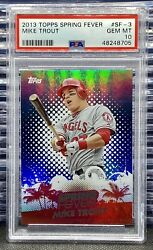 2013 Topps Mike Trout Spring Fever Sf-3 Psa 10 Gem Low Pop Holo Htf