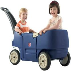 Kids Play Wagon Pull Behind Cart Toy 2 Seater Toddler Wheels Travel Sports New